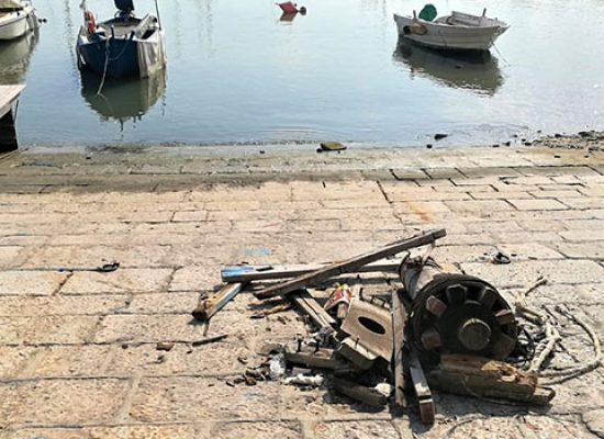 Al via raccolta fondi per restaurare l'argano distrutto al porto / VIDEO