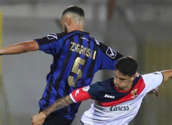 Pari interno del Bisceglie Calcio contro la Casertana nel turno infrasettimanale