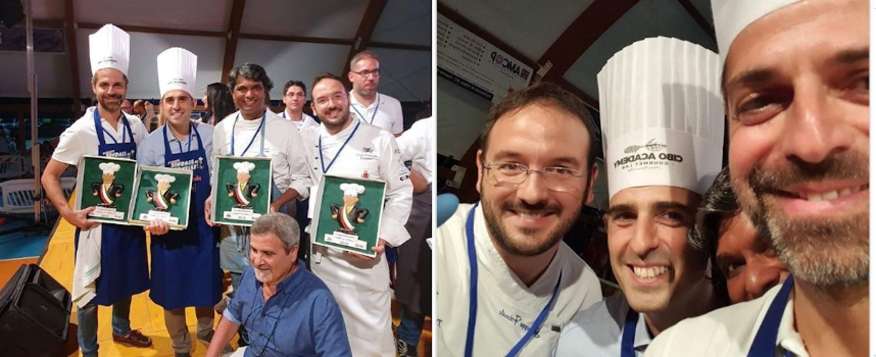 """""""Sindaci, ai Fornelli!"""", vincono Pizzarotti-Denuzzo guidati dallo chef biscegliese Frizzale"""