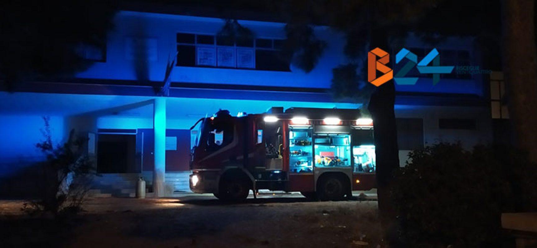 "Incendio all'Istituto Superiore ""Sergio Cosmai"""