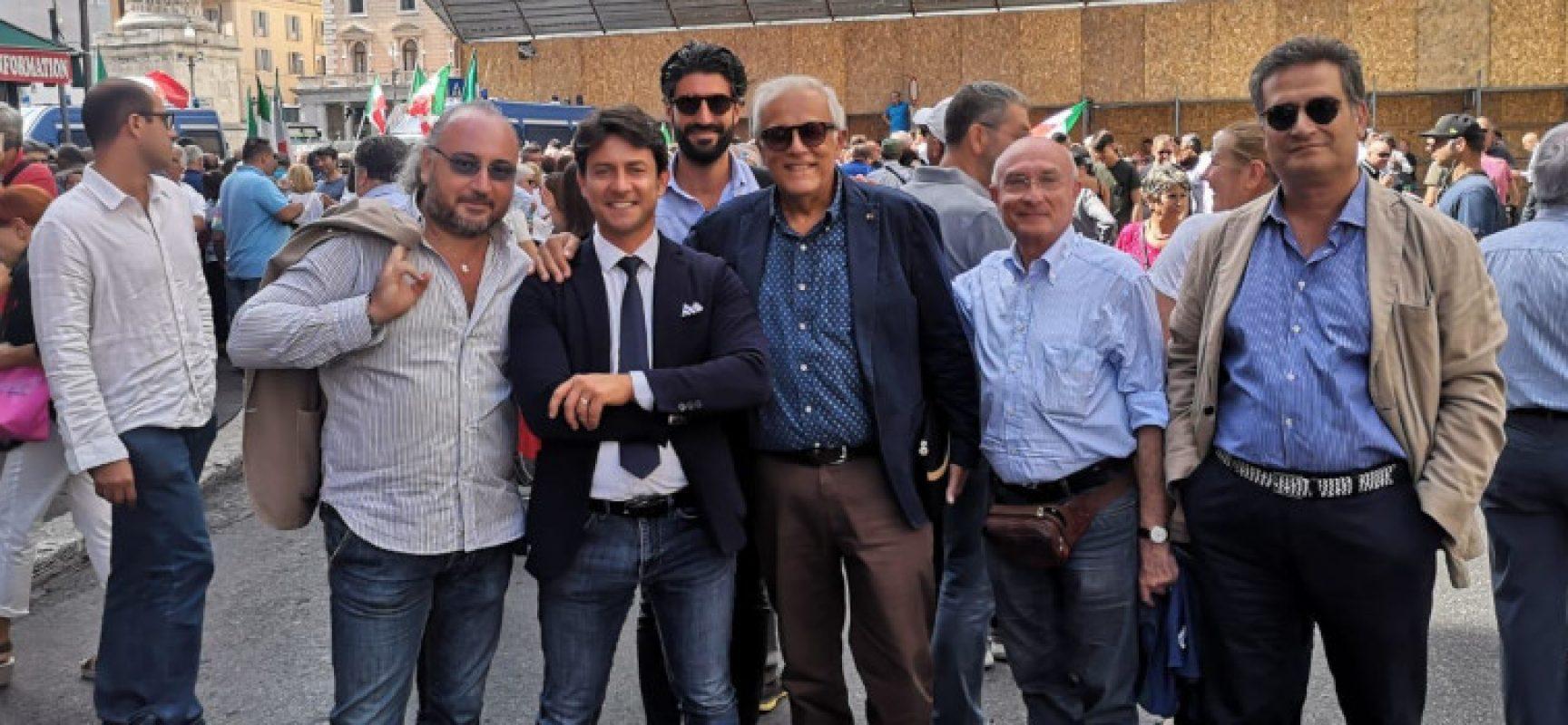 Centrodestra biscegliese in piazza a Roma per manifestare contro il governo Conte bis