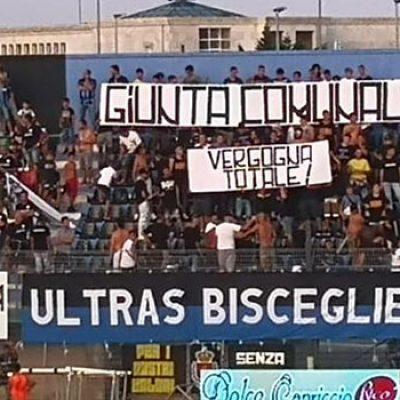 """Striscione tifosi Bisceglie contro Amministrazione, Angarano: """"Strumentalizzazioni fuori luogo"""""""