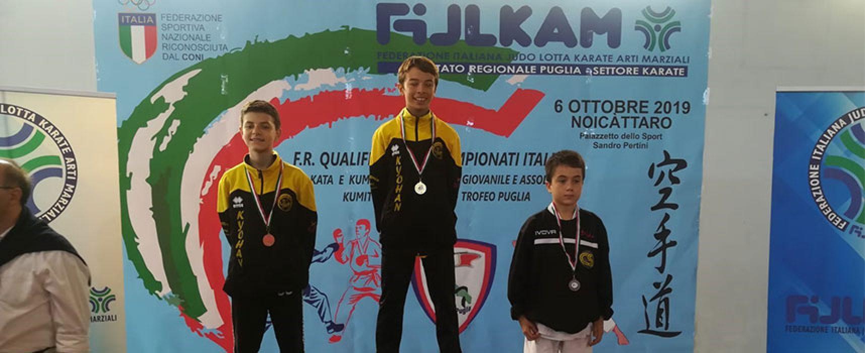 Il biscegliese Federico Papagni campione regionale Esordienti di kumite
