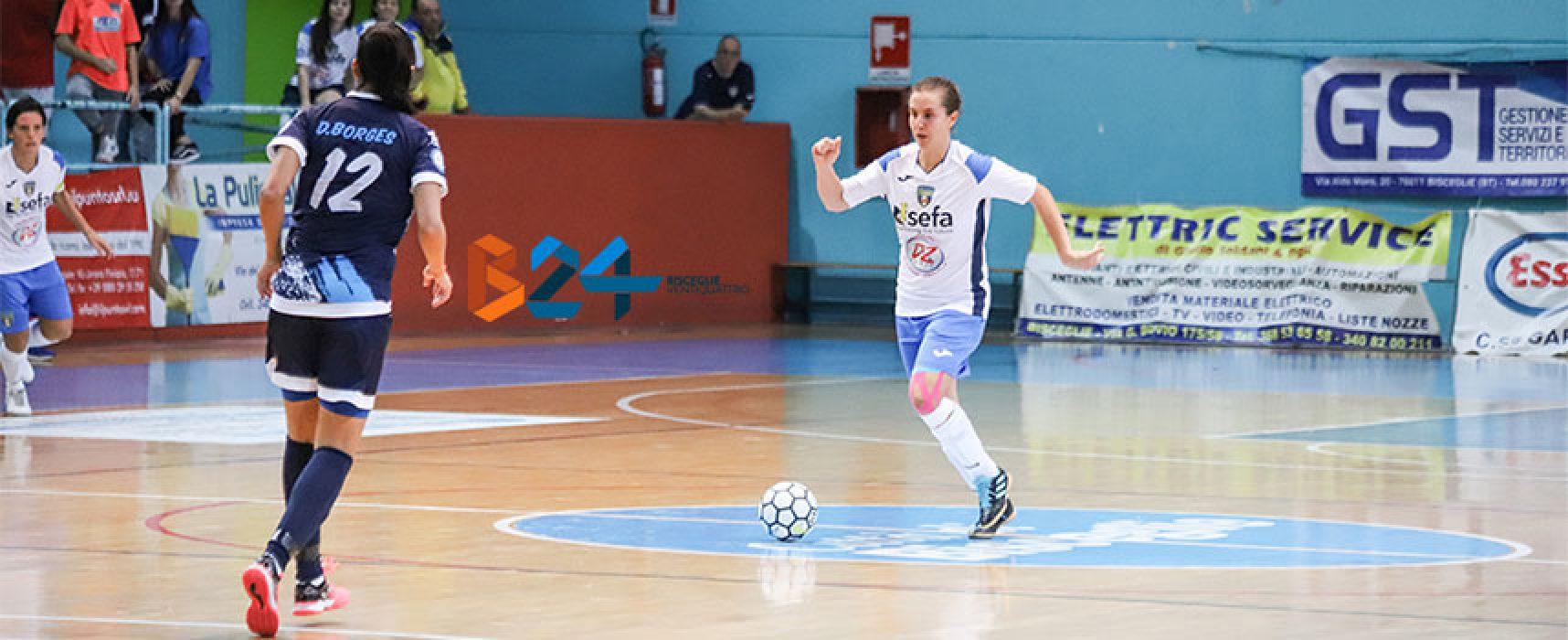 Bisceglie Femminile in campo a Cagliari nell'anticipo di Serie A