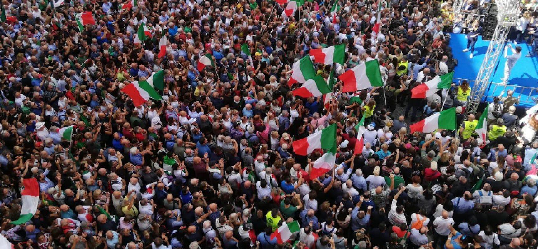 Manifestazione centrodestra contro il governo giallo-rosso / PULLMAN gratuito da Bisceglie