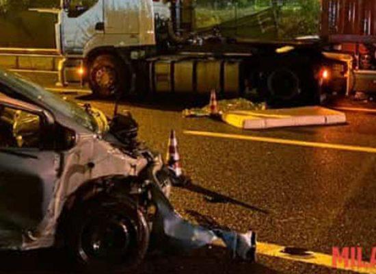 Tragico incidente sulla tangenziale di Milano, morta 36enne biscegliese