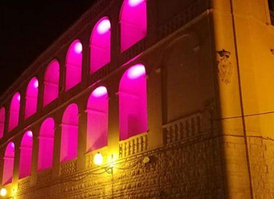 Prevenzione tumore seno, Palazzo San Domenico e Teatro Garibaldi illuminati di rosa