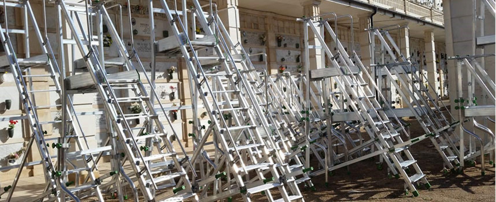 Effettuati lavori di manutenzione al cimitero comunale, acquistate 50 nuove scale