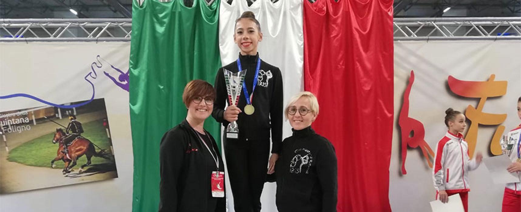 Ginnastica Ritmica, la biscegliese Abbadessa è campionessa italiana di Specialità Gold