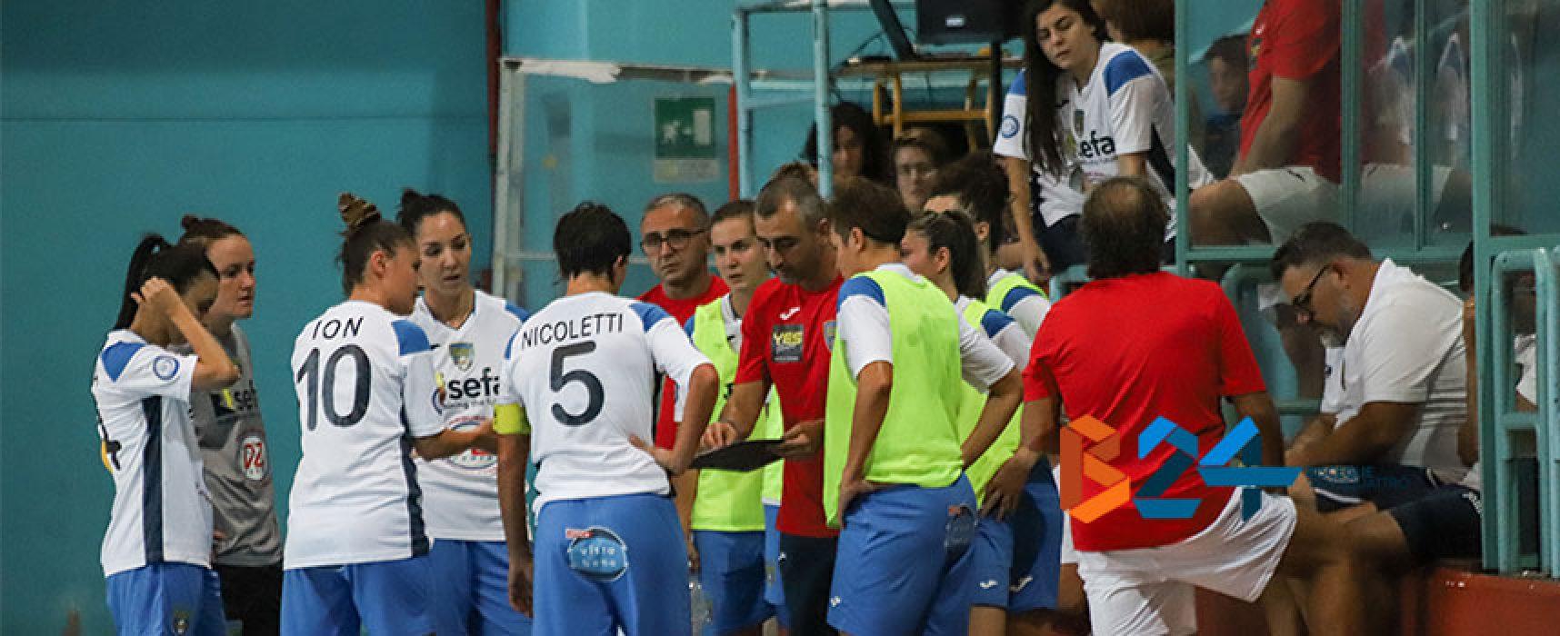 Bisceglie Femminile di scena sul campo della Futsal Salinis campione d'Italia