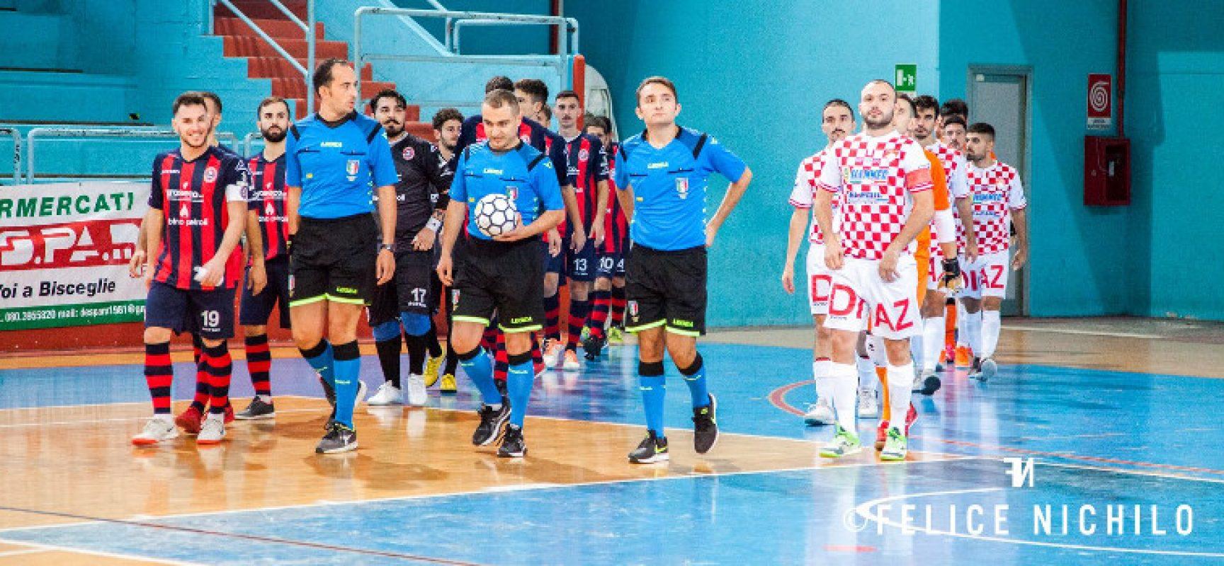 Diaz atteso dal derby, trasferte per Futsal Bisceglie e Futbol Cinco