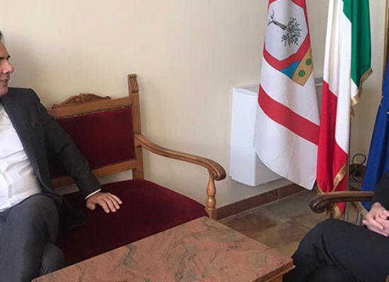 Il nuovo Prefetto della Bat in visita istituzionale a Palazzo di Città