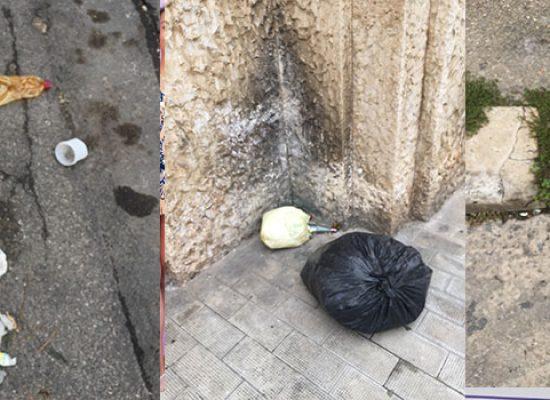 """Lettrice denuncia sporcizia in via Giusti, """"Segnalato piu volte a Sindaco e app Municipium"""""""