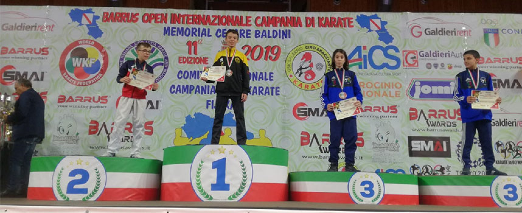 Fratelli Papagni protagonisti all'Open di Campania di karate