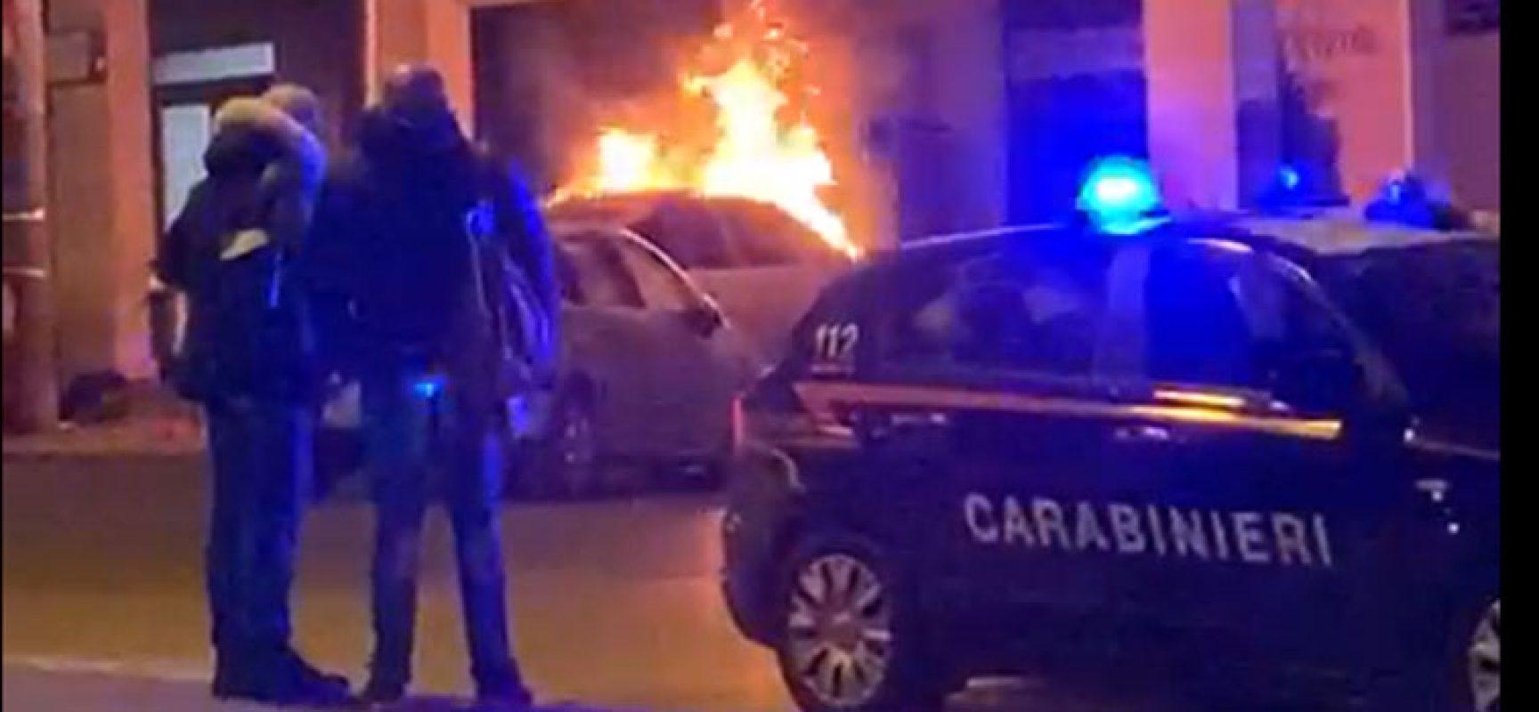 Incendiata l'auto del padre del Sindaco Angarano