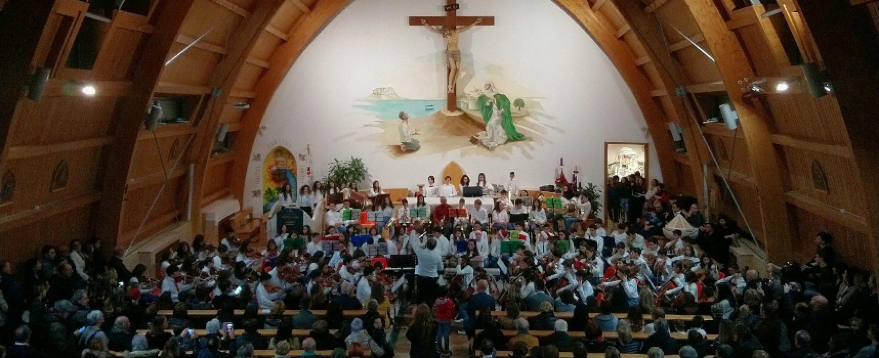 """Concerto di Natale, successo per i giovani musicisti della scuola media """"Riccardo Monterisi"""""""