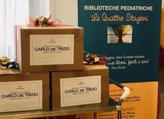 Il comitato Carlo de Trizio dona materiale didattico per bimbi dell'oncologico di Bari