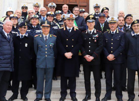 San Sebastiano, stamane tradizionale messa in onore del Patrono della Polizia Locale / FOTO