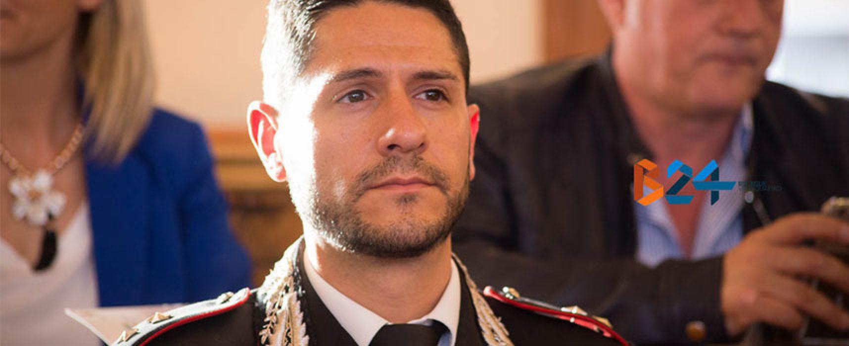Caputo lascia la Tenenza dei Carabinieri di Bisceglie, a giorni il subentro del successore