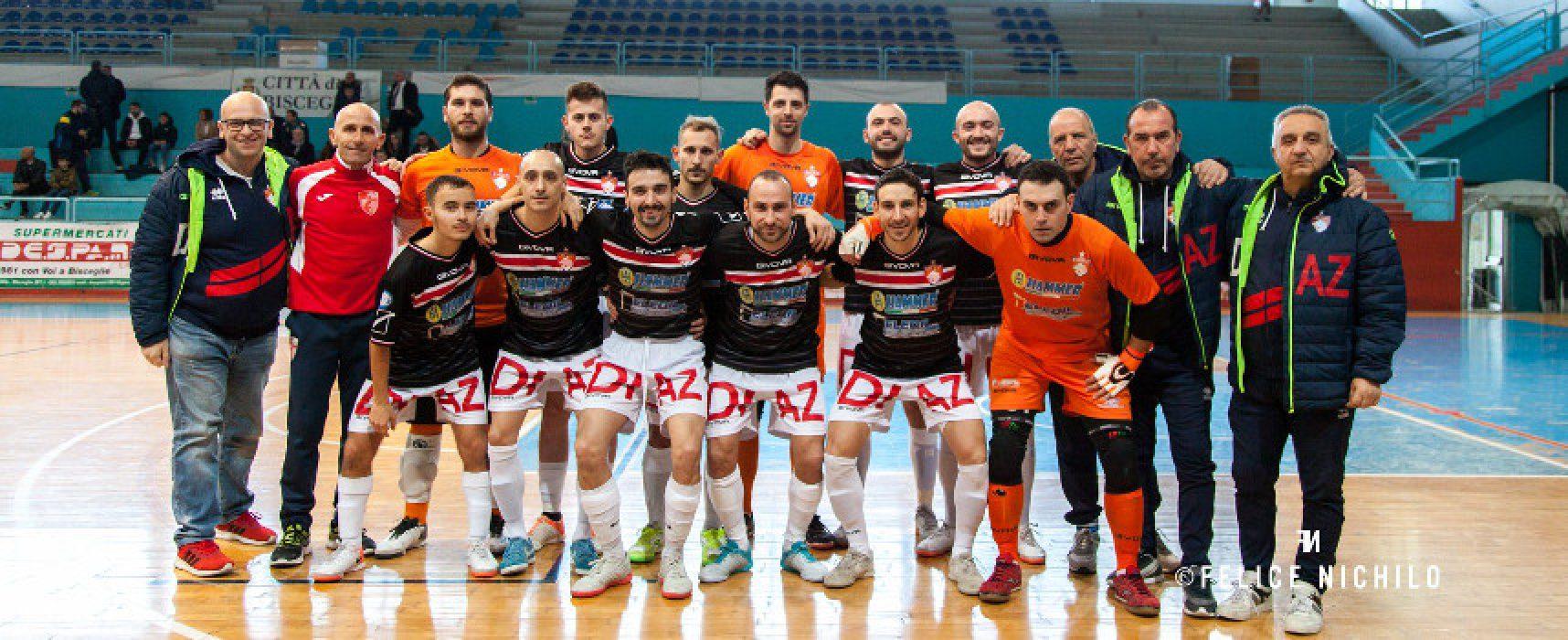 Calcio a 5, non disputata la gara tra Diaz e Real Dem. Ko Cinco e Futsal Bisceglie