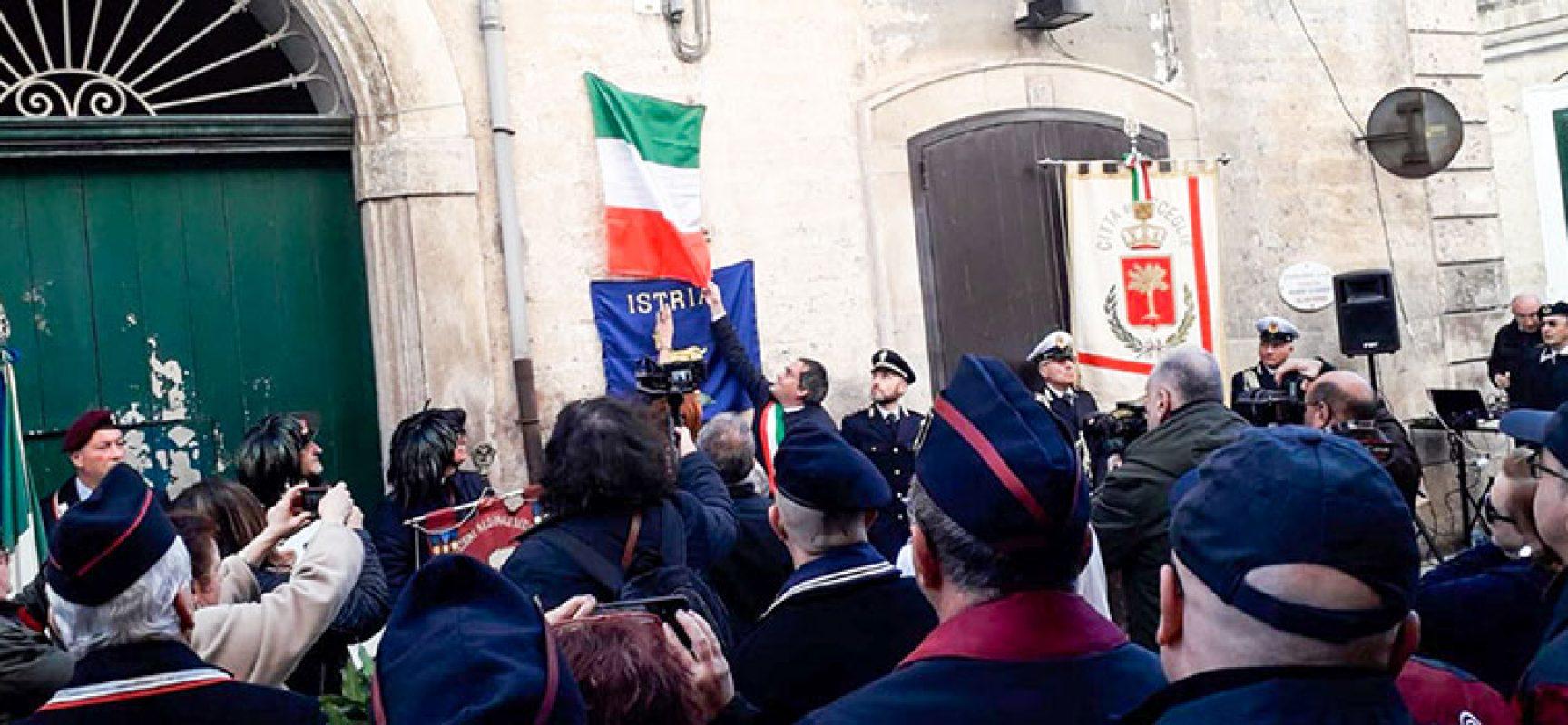 Scoperta targa in onore di Antonio Papagni, biscegliese vittima delle Foibe