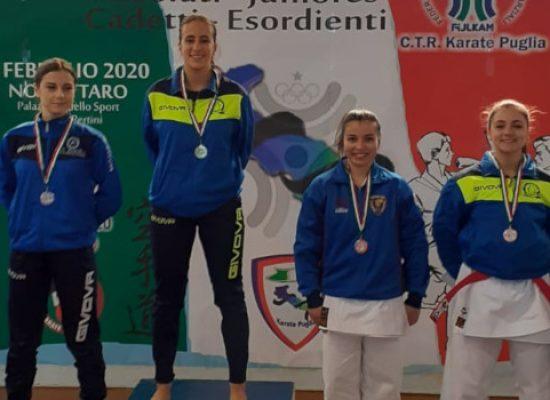 Karate, Laura Dell'Olio fra le migliori tre karateka di Puglia