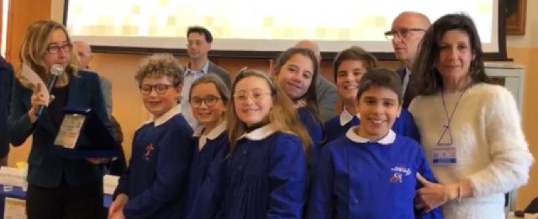 """La scuola """"De Amicis"""" di Bisceglie medaglia d'argento al """"Premio Scuola Digitale"""""""