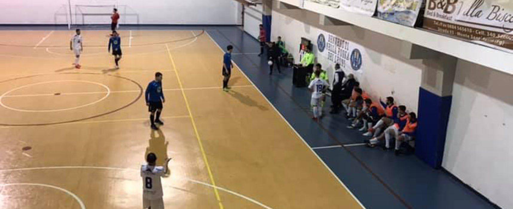 Futbol Cinco, sconfitta esterna contro il Futsal Monte Sant'Angelo