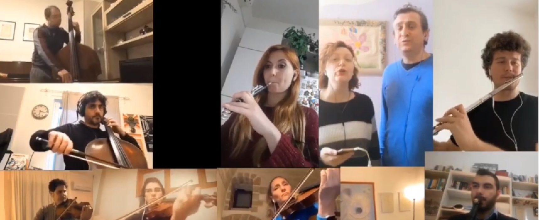 L'Orchestra Filarmonica Pugliese porta la musica a domicilio con Monopoli e Montini / VIDEO