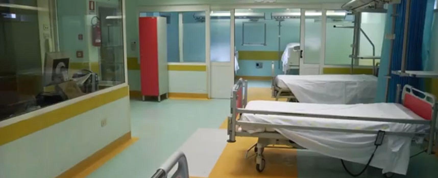 Riattivato Covid Hospital di Bisceglie: blocco dei ricoveri ordinari e pazienti trasferiti