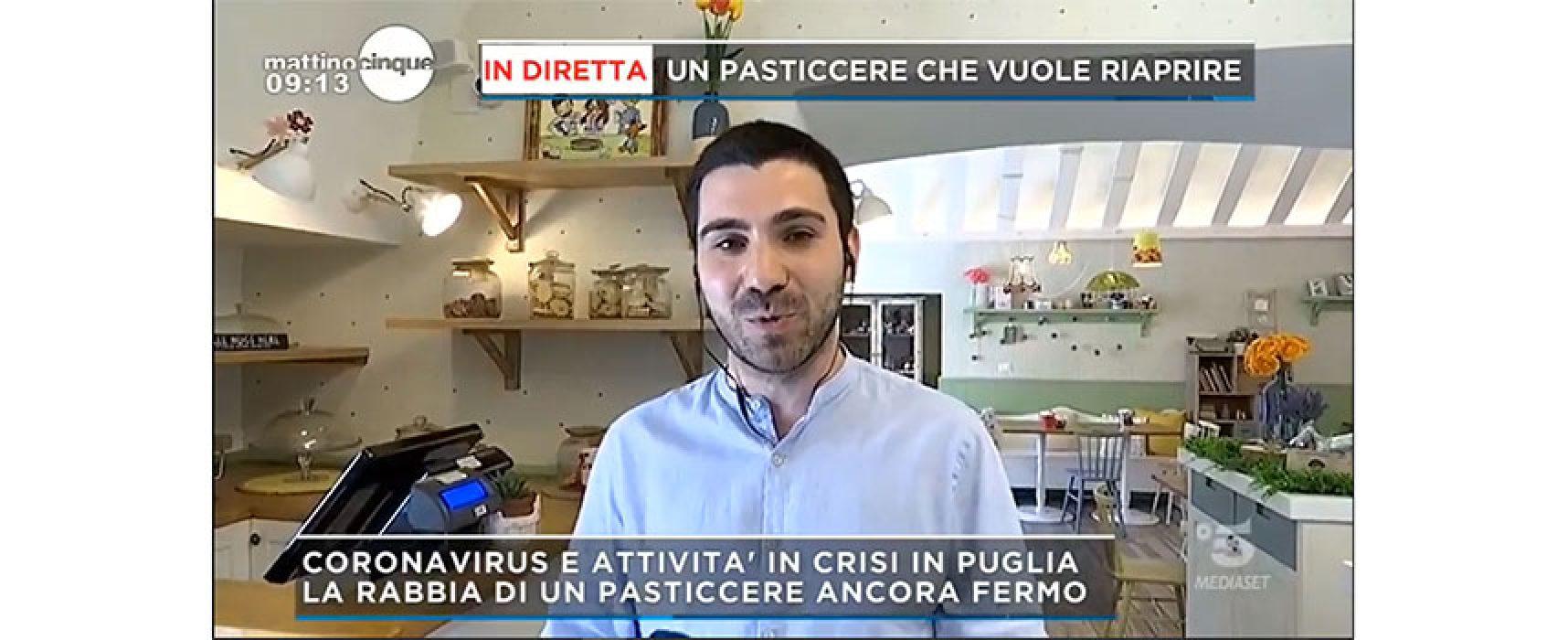 """Pasticcere biscegliese a Mattino Cinque: """"A lavoro per ripartire rispettando disposizioni"""" / VIDEO"""