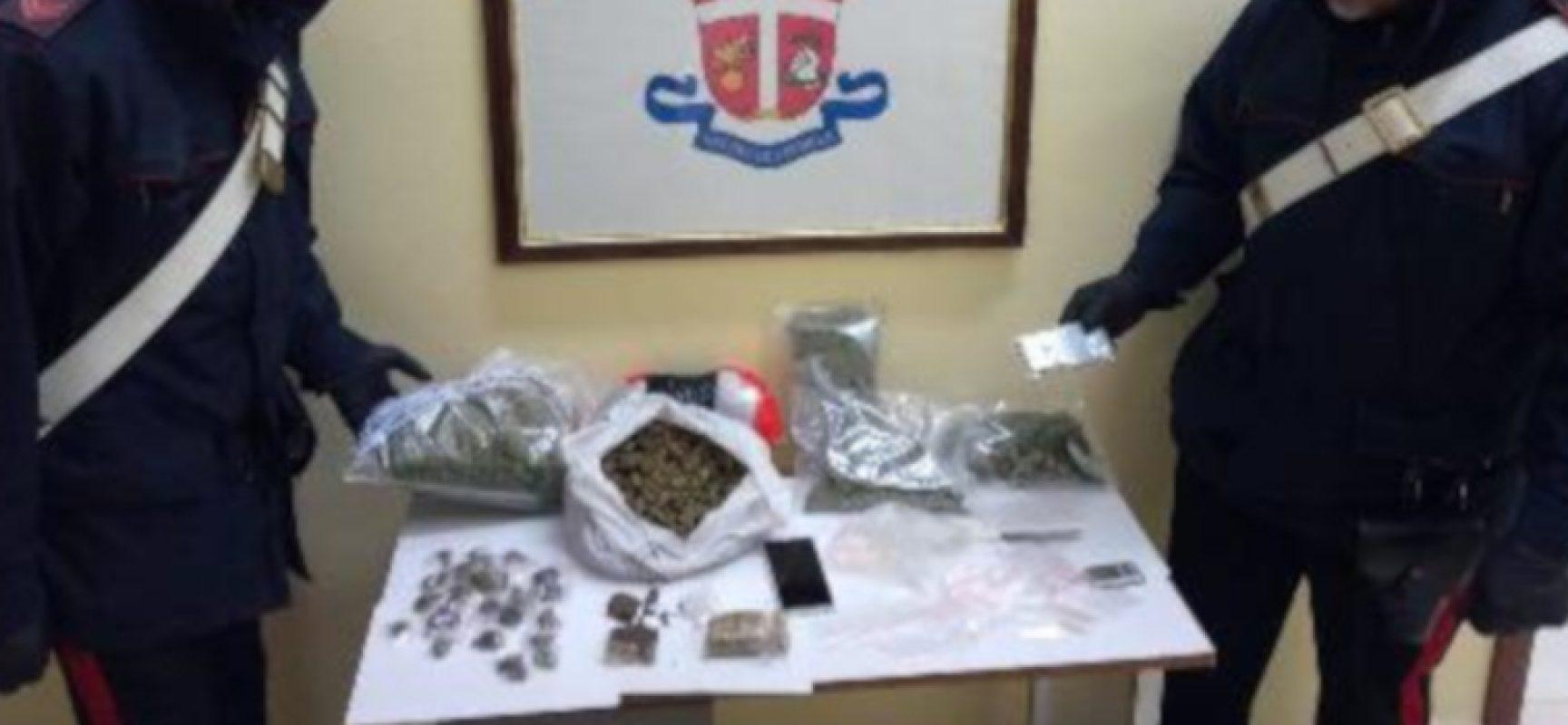 Ventenne biscegliese in manette per detenzione di un chilo e mezzo di sostanze stupefacenti