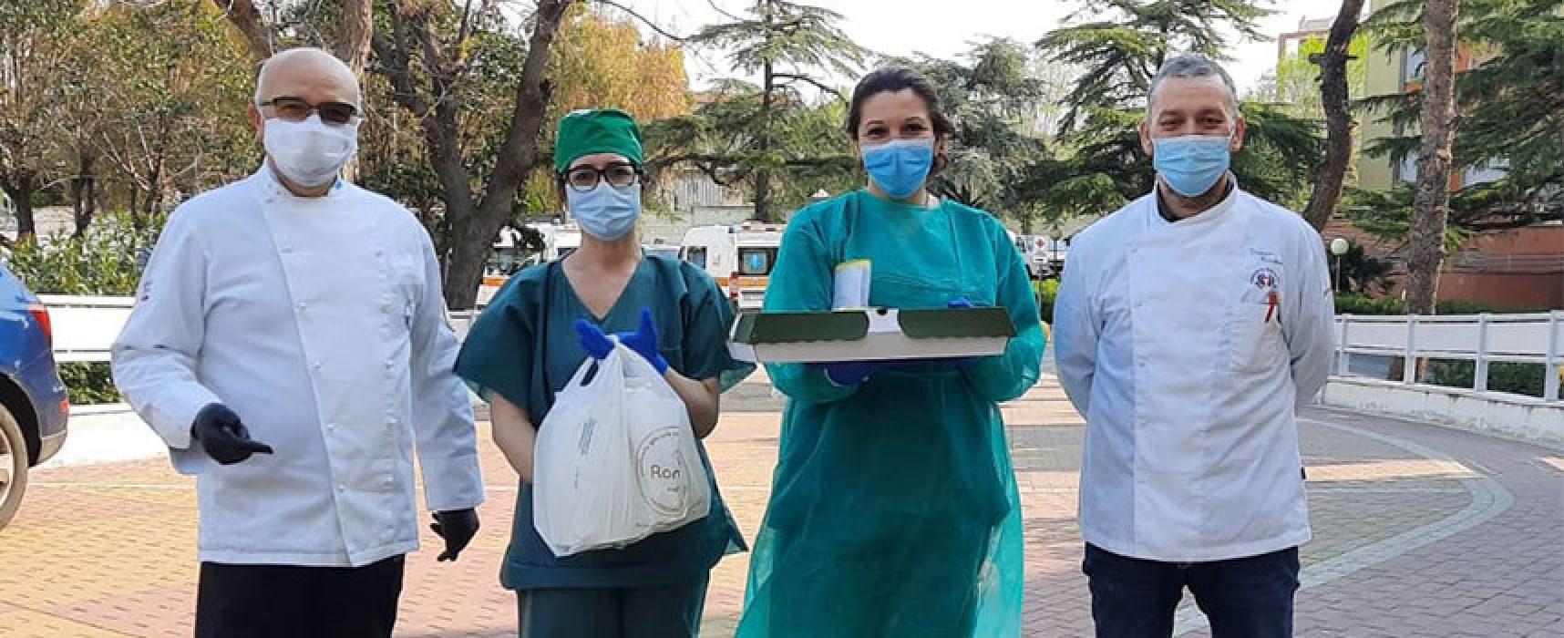 Associazione cuochi e pasticceri Bat offre colazioni a operatori ospedale Bisceglie / FOTO