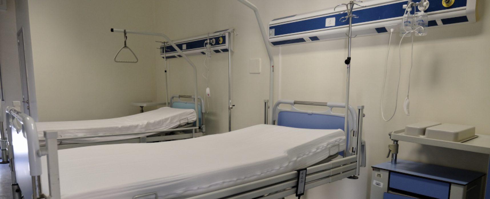 Puglia, rete ospedaliera Covid portata a 3062 posti letto