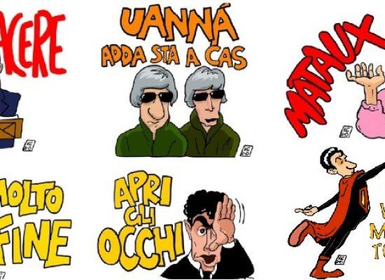 #iorestoacasa, il biscegliese Domenico Velletri crea stickers in collaborazione con Toti e Tata