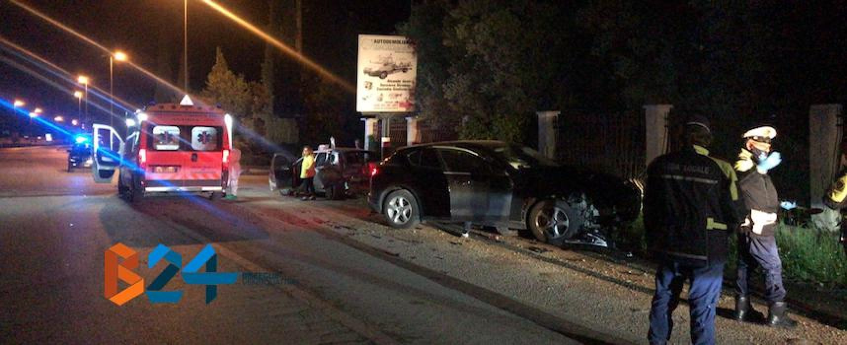 Incidente su via Andria, 35enne biscegliese trasportato al Bonomo