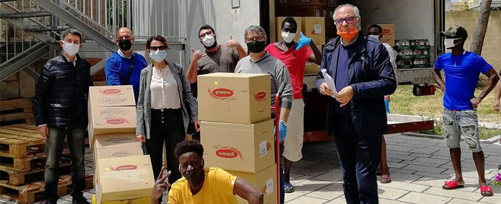Rotary Bisceglie dona a Caritas cittadina generi alimentari a lunga conservazione