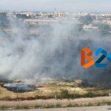 A fuoco terreno privato in quartiere Sant'Andrea / FOTO