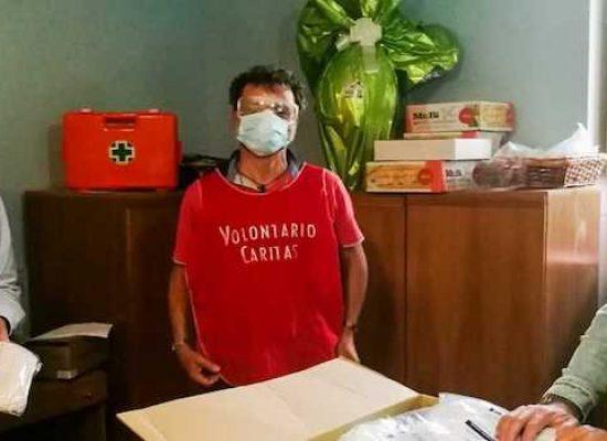 Prima tranche di mascherine alla Caritas per la distribuzione a famiglie in difficoltà