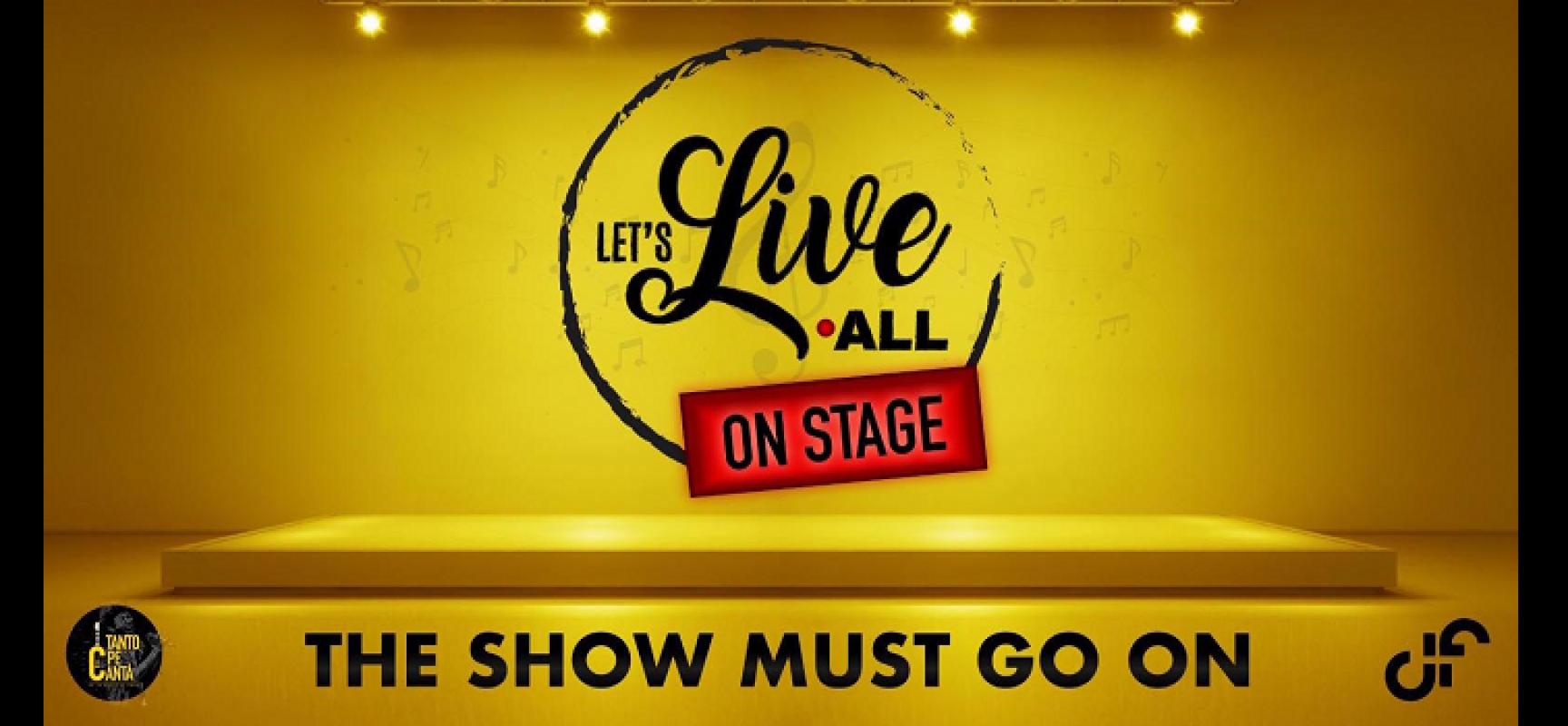 """""""Let's live all – on stage"""", il DF riparte con una maratona musicale in streaming"""