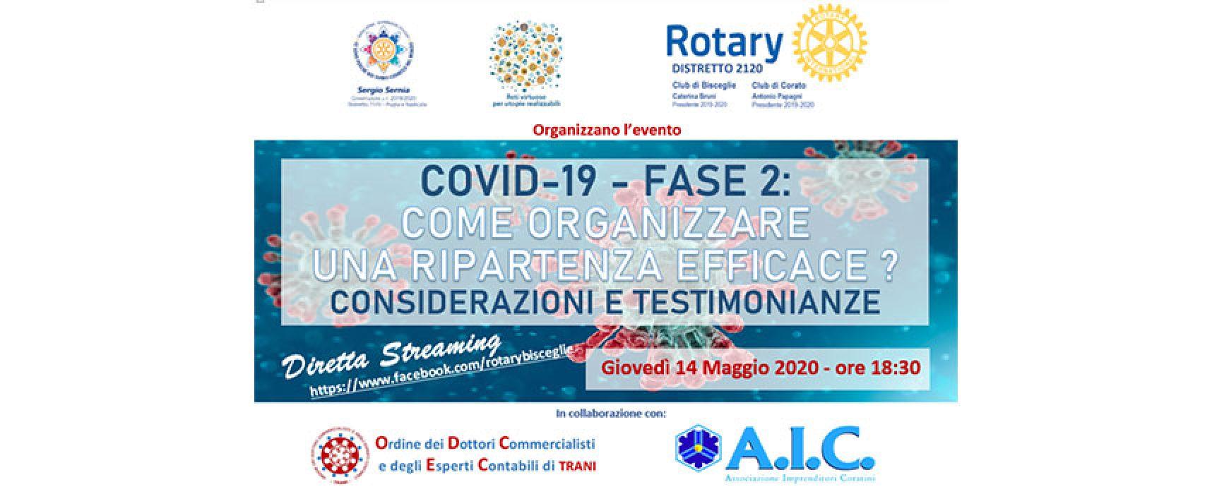 Rotary Club Bisceglie organizza diretta Facebook su ripartenza efficace dopo emergenza sanitaria