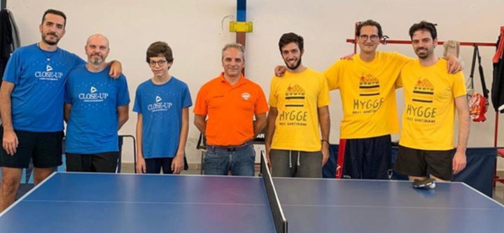 Tennistavolo: FITeT dichiara chiusi i campionato, Hygge Bisceglie promossa in Serie D1
