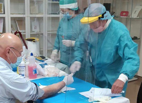 Giornata di test sierologici ieri nella sede di Roma Intangibile / FOTO