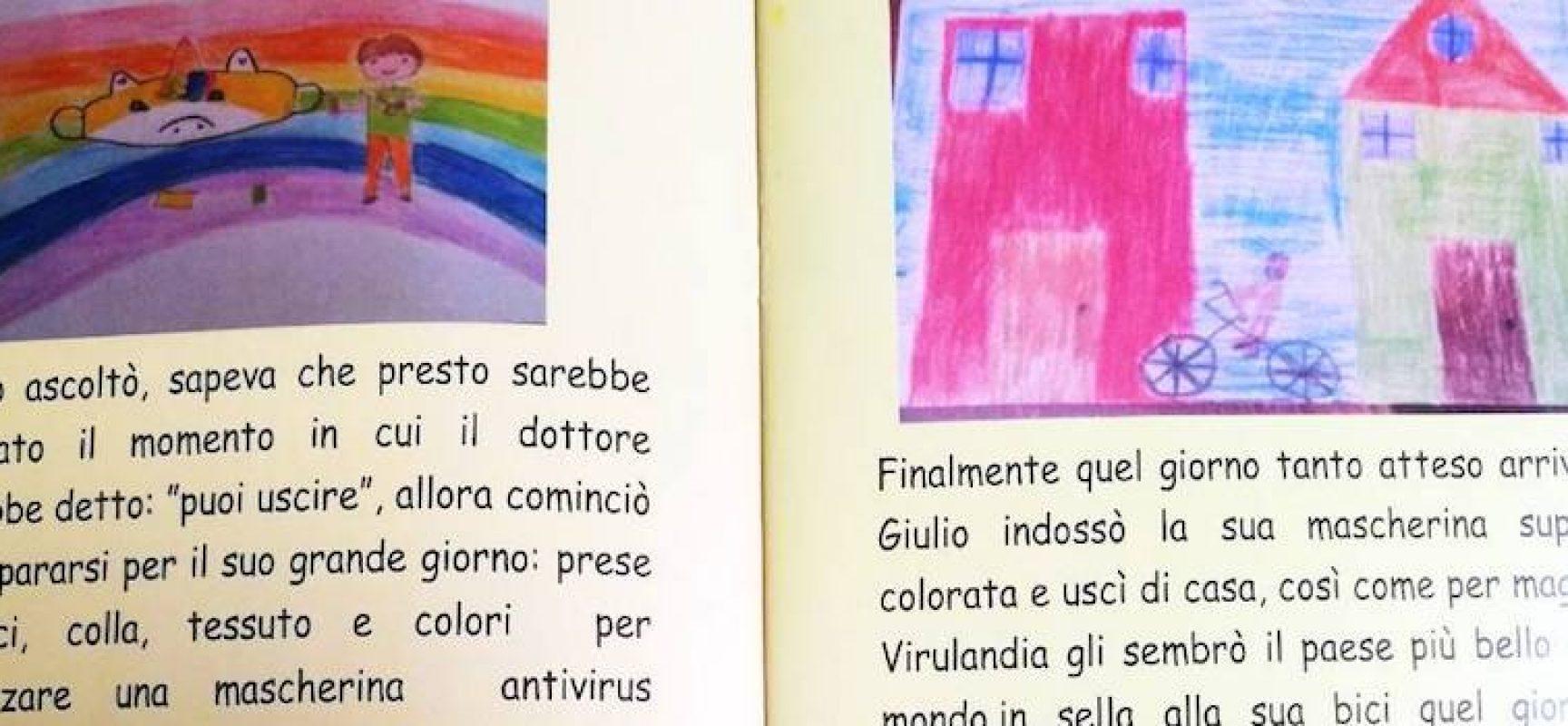 """La storia di """"Virulino"""" e Giulio: bambini della scuola primaria scrivono un libro in lockdown"""