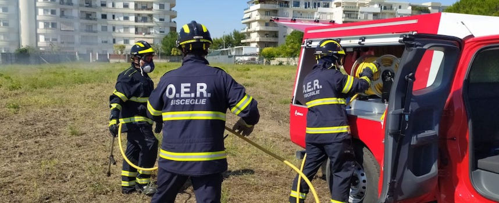 Anche gli operatori emergenza radio di Bisceglie al corso  antincendio boschivo / FOTO