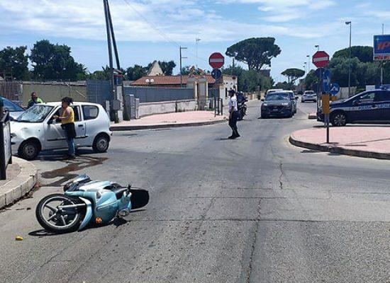 Incidente in via Imbriani, ferito giovane biscegliese a bordo di uno scooter