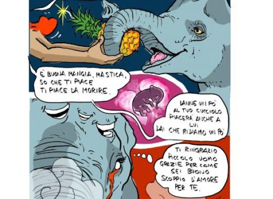 Elefantessa uccisa, il monito artistico di Vincenzo Mastropirro e Domenico Velletri
