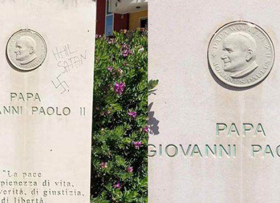 """Ripulita stele San Giovanni Paolo II, Angarano: """"In corso indagini per risalire a responsabile"""""""