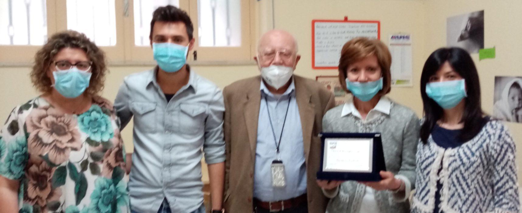 Avis Bisceglie ringrazia la famiglia di Gaetano Valente per la donazione