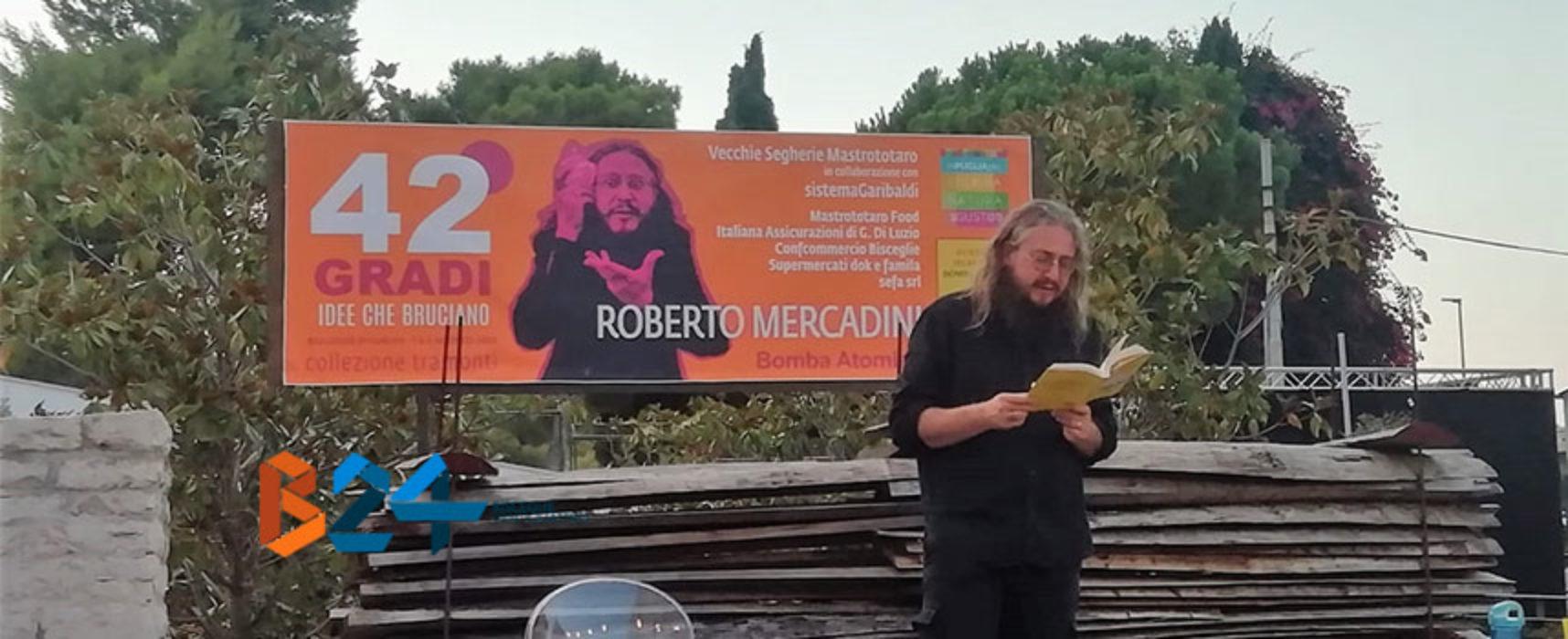 """Roberto Mercadini apre la rassegna """"42 gradi"""" con il suo """"Bomba atomica"""""""